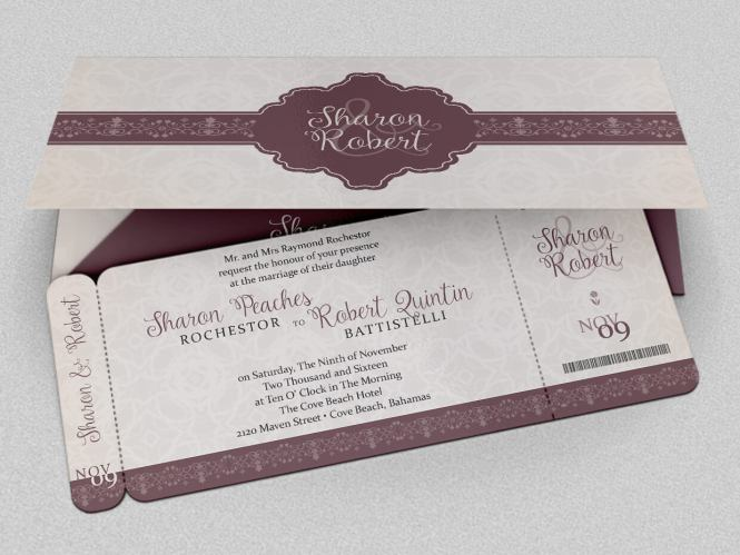 All That Glam Invitation Gold
