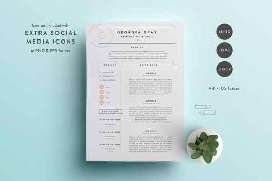 50 Best Cv Resume Templates Of 2018 Irc Web Services