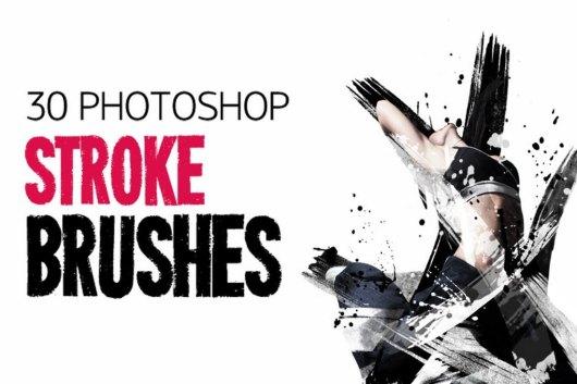 30 Photoshop Stroke Brushes