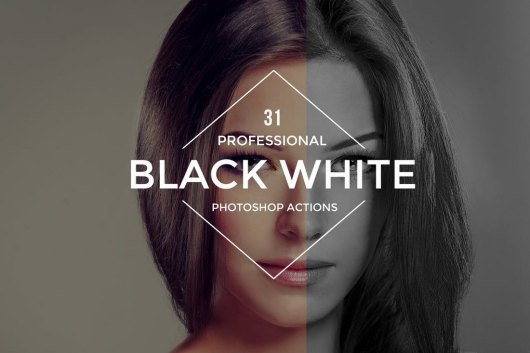 31 Black and White Photoshop Actions