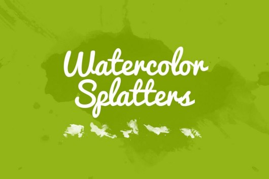 32 Watercolor Splatter Brushes