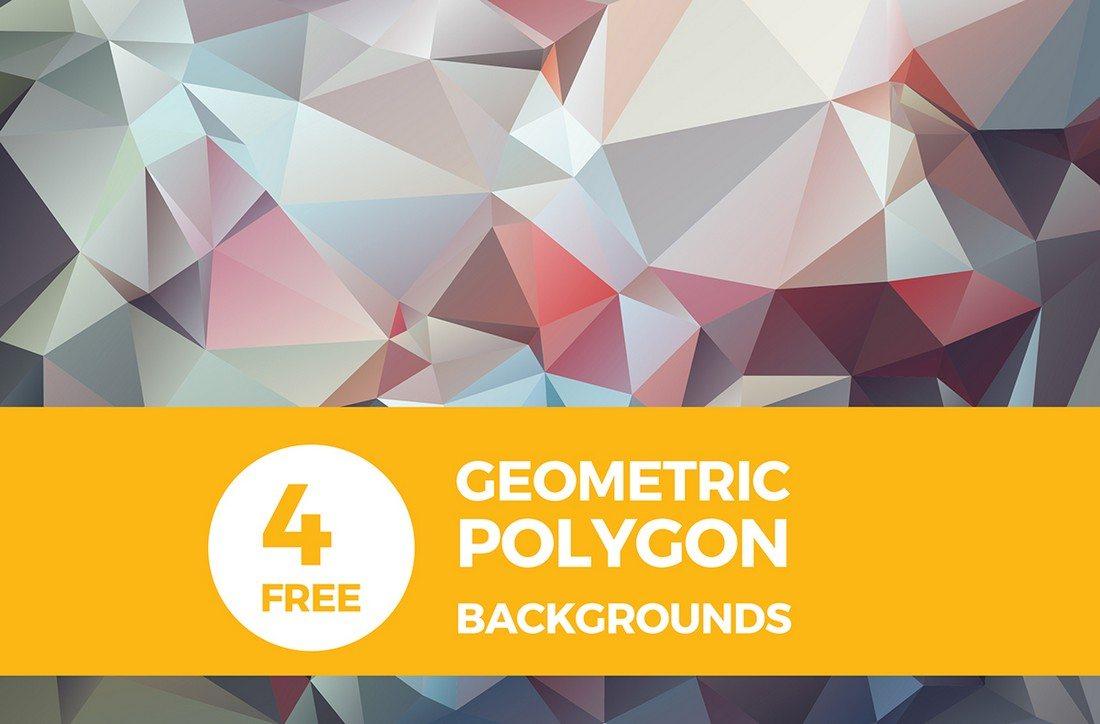 20+ Beautiful Geometric & Polygon Background Textures 65