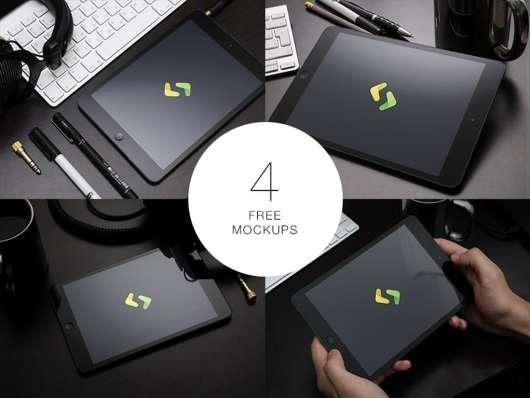 4 Free iPad Mockups