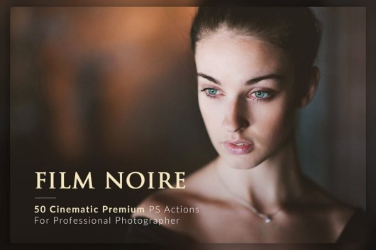 50 Film Noire Wedding Photoshop Actions Bundle