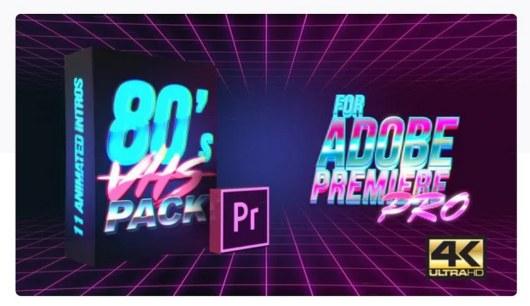 80s vhs intro premiere pro template