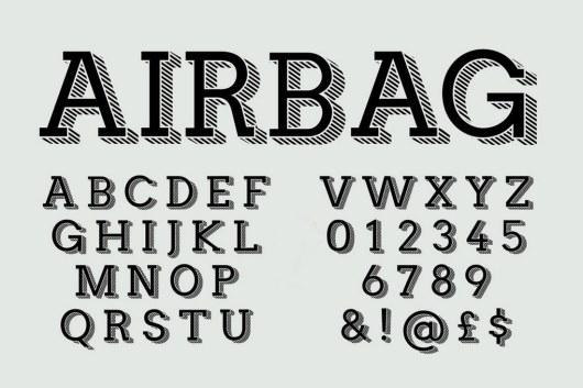 Airbag - Trendy Display Font