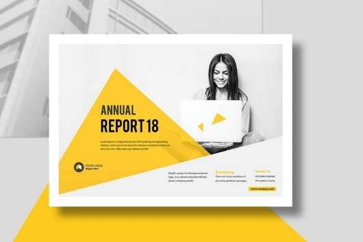 Annual Report Landscape Template