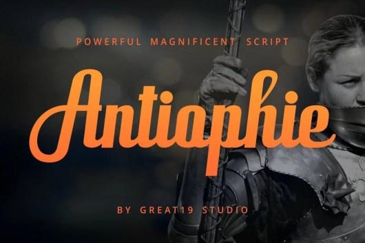 Antiophie - Free Script Font