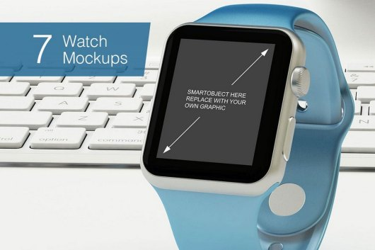 Apple Watch Mockup With 7 Poses