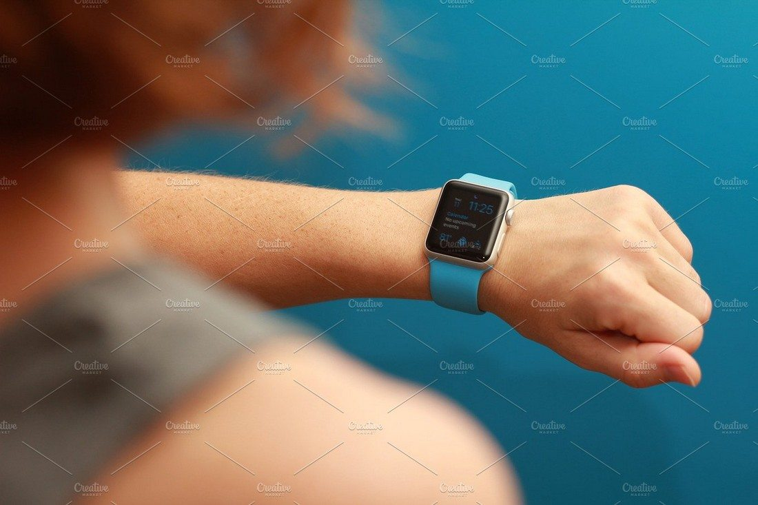 50+ Apple Watch Mockups & Graphics 23
