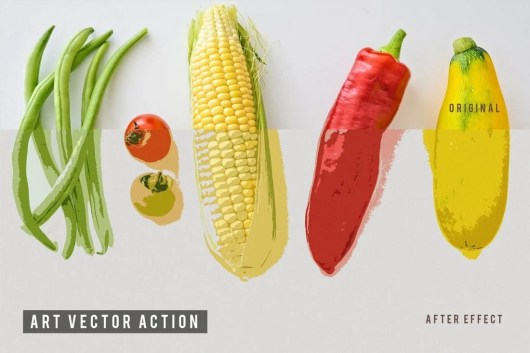 Art Vector Photoshop Action