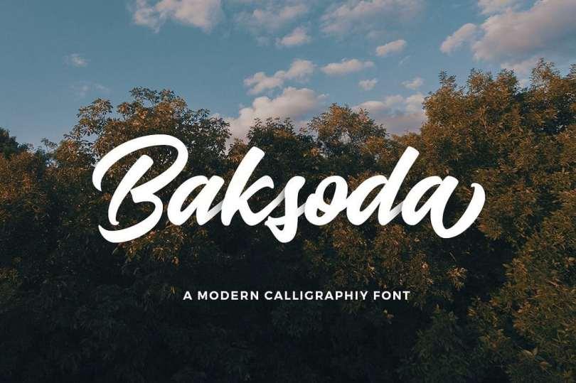 Baksoda Free Font