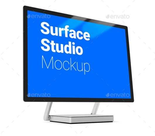 Basic Surface Studio Mockup