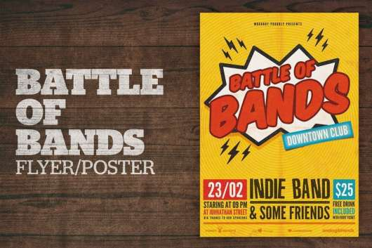 Battle of Bands Poster Flyer Template