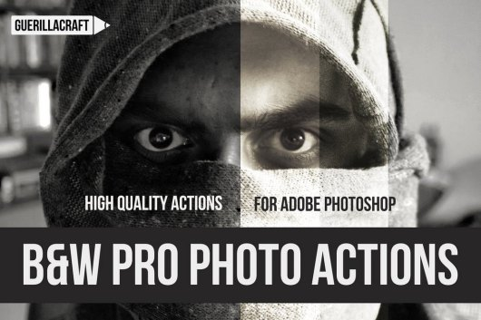 Black and White Professional Photoshop Actions