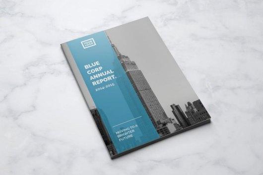 Blue Annual Report Template