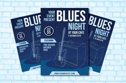 Blues Night - Club Flyer Template