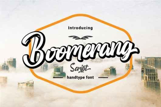 Boomerang Script - Signage Font
