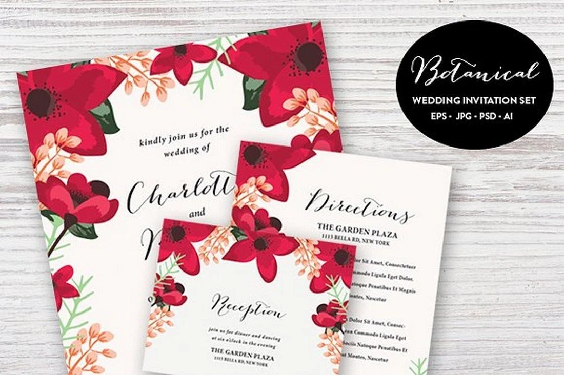 90+ Gorgeous Wedding Invitation Templates | Healthcare Web Design ...