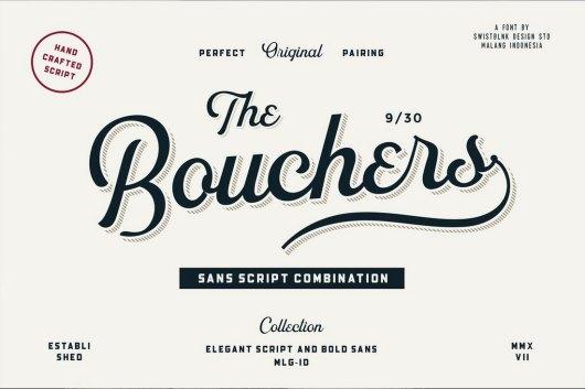 Bouchers - Script Font Duo