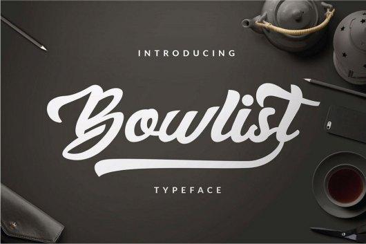 Bowlist - Logo Type Font