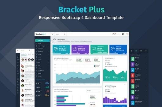 Bracket+ Responsive Bootstrap 4 Admin Dashboard Template