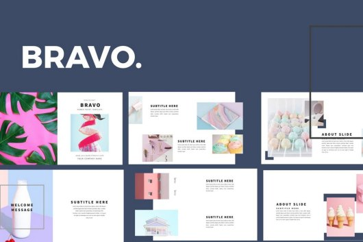 Bravo - Clean Powerpoint Template