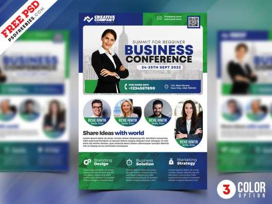 Business Conference Flyer & Poster Template