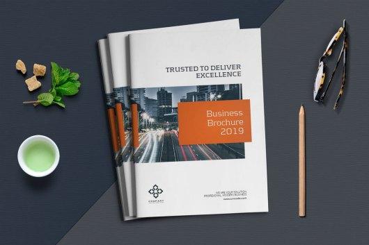 Business Report Brochure Template