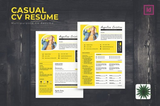 Casual CV Resume Template For Creatives