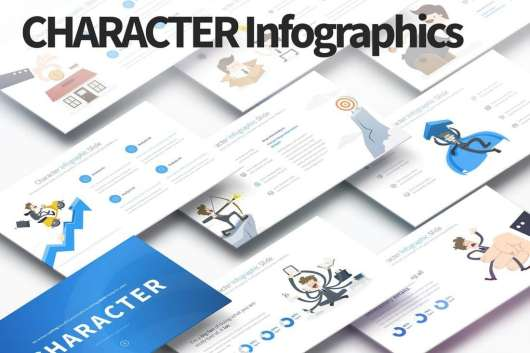Character - PowerPoint Infographics Slides