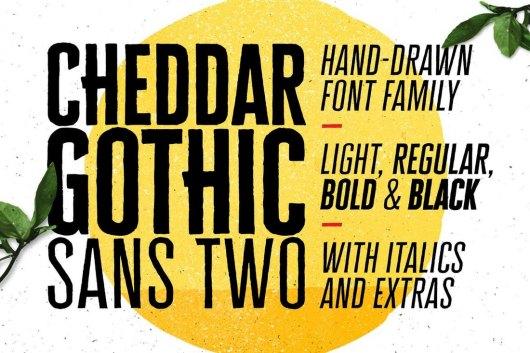Cheddar Gothic Sans Two Fonts
