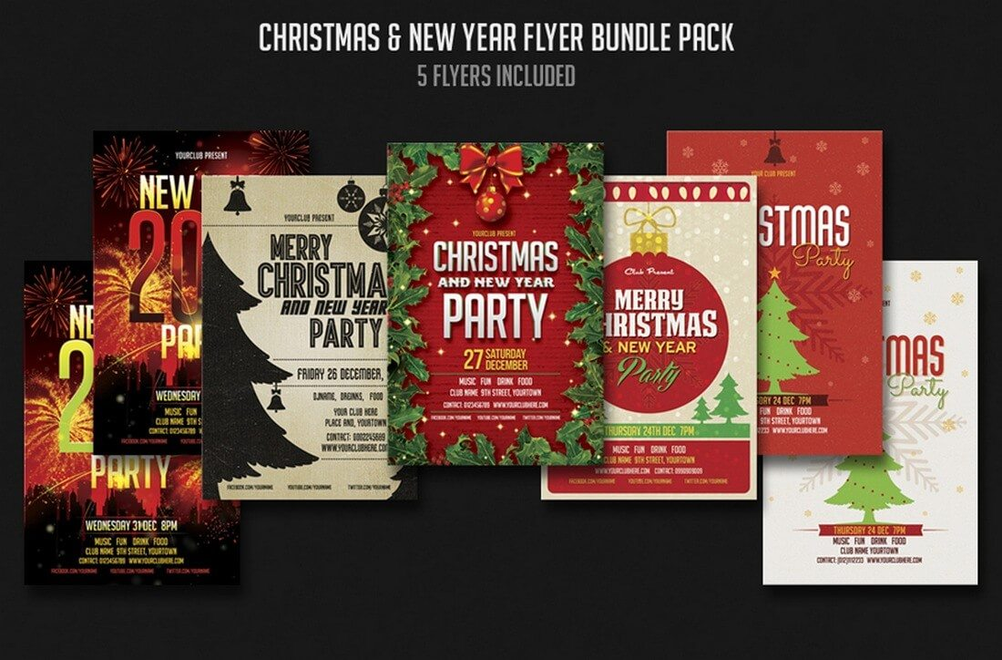 christmas-new-year-flyer-bundle