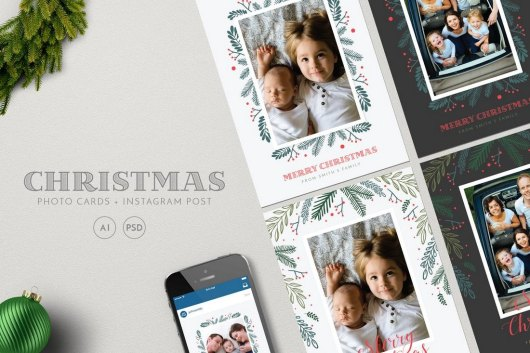Christmas Photo Cards Templates