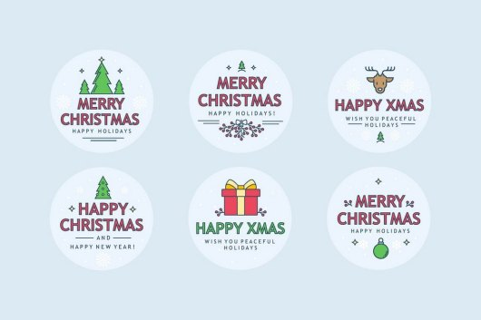 Christmas Sharp Badges