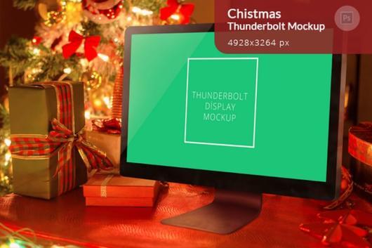 christmas-thunderbolt-display-mockup