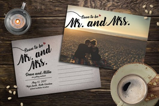 Classic Save the Date Post Card Template