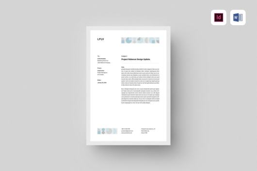 Clean Word & InDesign Letterhead Template