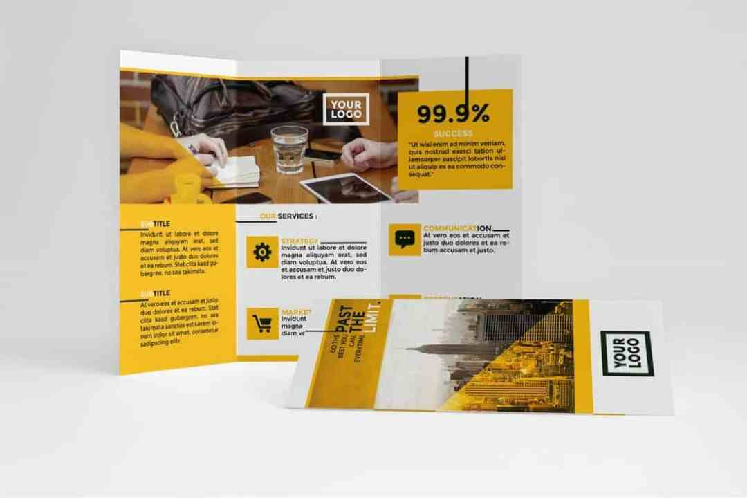 Clean Yellow Trifold Template