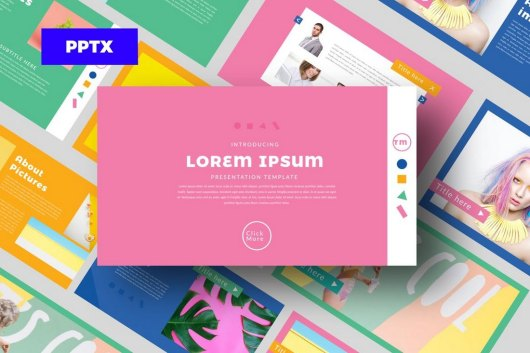 Color FUN - Cool Powerpoint Template