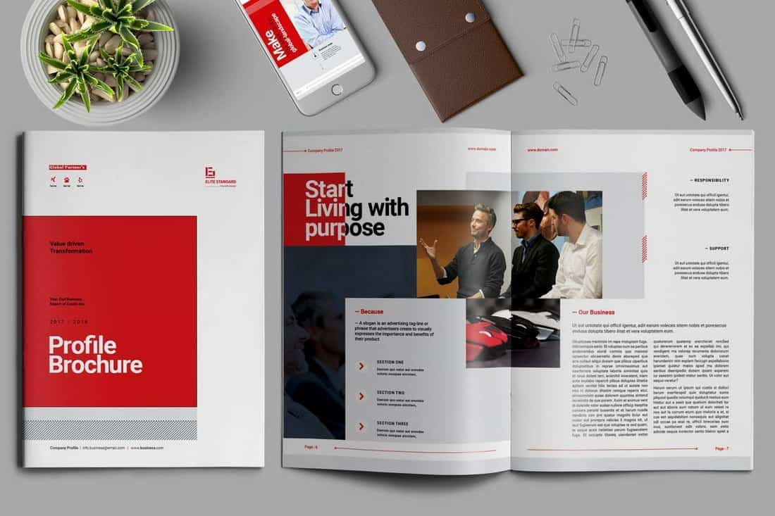 Company Profile Creative Brochure Template