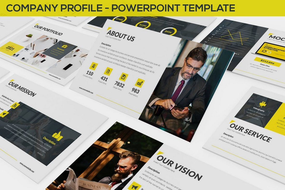 Company Profile - Powerpoint Template