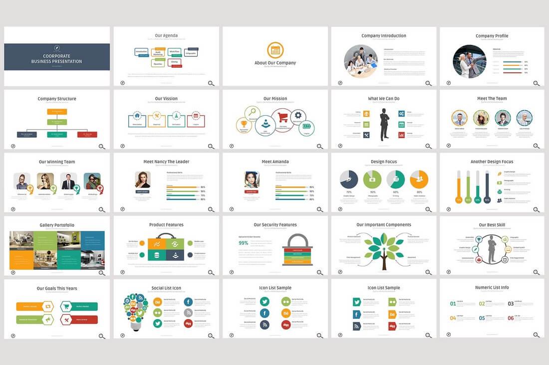 60+ Beautiful, Premium PowerPoint Presentation Templates 64