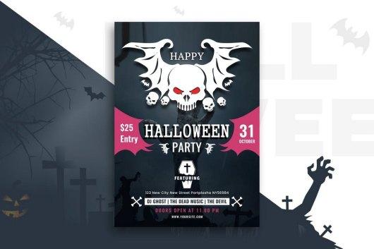 Creative Halloween Party Flyer