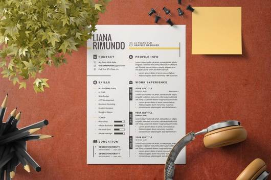 Creative Minimalist CV Resume Template