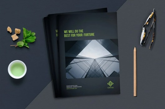 Dark Business Brochure Template