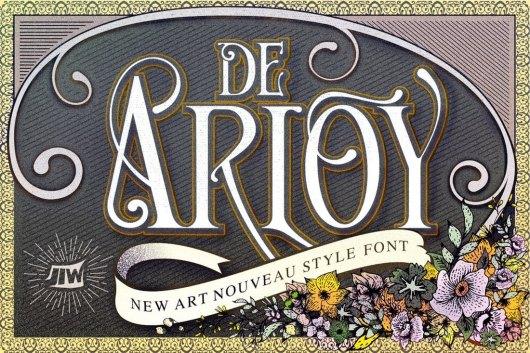 De Arloy - New Art Tattoo Font