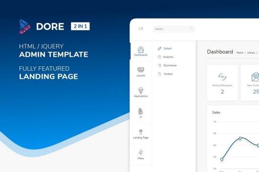 Dore - Html jQuery Bootstrap Admin Template