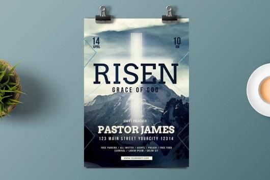 Easter Church Bulletin Template