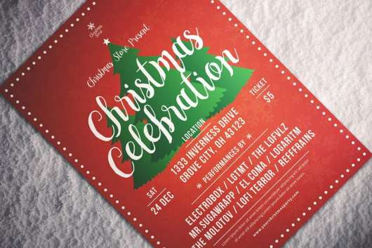 Elegant Christmas Celebration Flyer